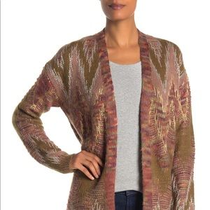 Lucky Brand Metallic Cardigan